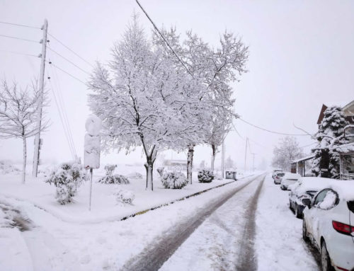 Χιονιάς στις 14 Φεβρουαριου 2021